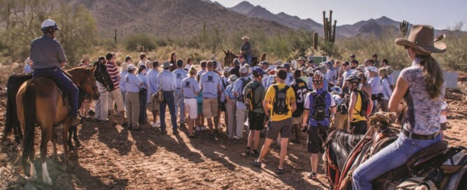 Conservancy Stewards and community meet for the ground breaking of the Gateway Trailhead.